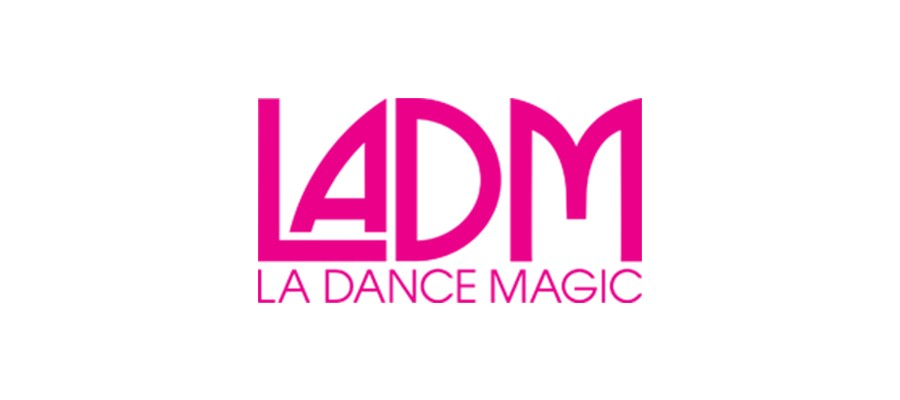 LA Dance Magic written in pink lettering