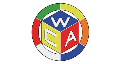 Colorful logo of the World Cube Association.
