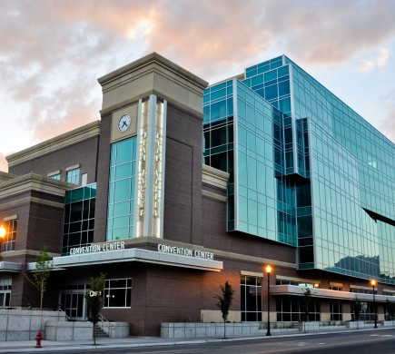 View of the exterior of the convention center