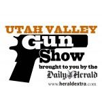 Logo for the Utah Valley Gun Show. Visit the website.